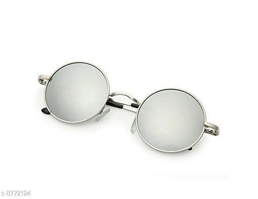 1UP Silver Round  Metal Body Sunglass
