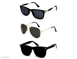 1UP Black Aviator/Wayfare Metal/Plastic Body Sunglass