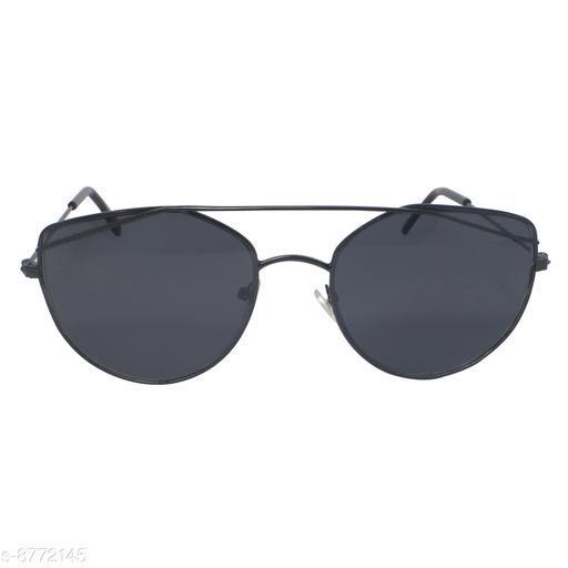 1UP Black Cat-Eye Metal Body Sunglass