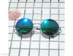 1UP Blue Round  Metal Body Sunglass(LR605-BLU)