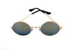 1UP Unisex Green Round Sunglasses