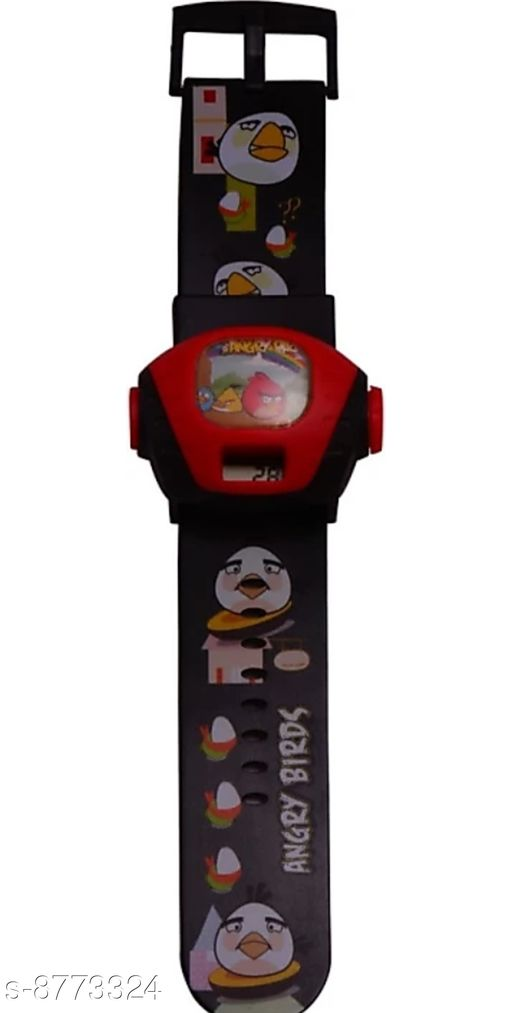 Watches Angry bird watch black colour watch kids watch boys watch girls watch  *Strap material* Plastic  *Display* Digital  *Sizes*  Free Size  *Sizes Available* Free Size *    Catalog Name: Elite Kids Unisex Watches CatalogID_1499211 C63-SC1197 Code: 791-8773324-