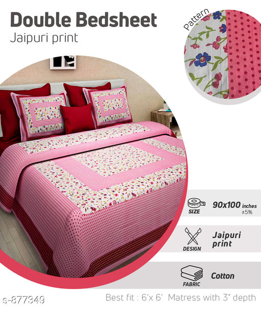 Dainty Cotton Double Bedsheet