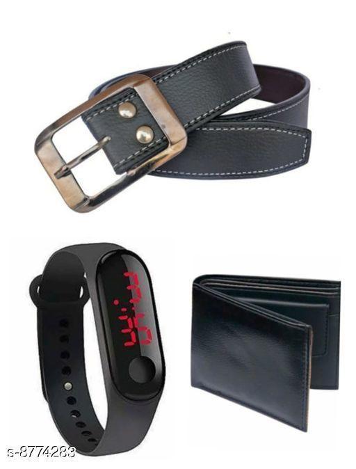 Belts Stylish Women's Belts  *Belt Material * Leather  *Wallet Material* Leather  *Led Material* Plastic  *Pattern* Solid  *Card Slot* 4  *Compartment* 2  *Multipack* 3  *Size*   *Belt( Waist Size* 28, Length  *Belt( Waist Size* 30, Length  *Belt( Waist Size* 32, Length  *Belt( Waist Size* 34, Length  *Wallet(Length Size* 6 in, Width Size  *Sizes Available* Free Size *    Catalog Name: Stylish Women's Belts CatalogID_1499434 C65-SC1222 Code: 353-8774283-