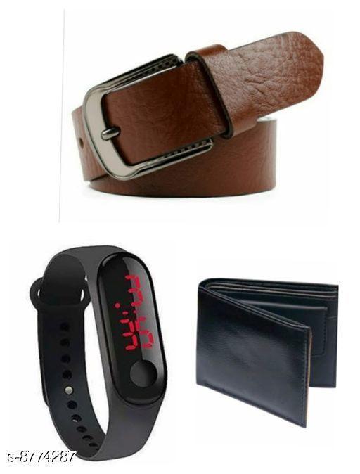 Belts Stylish Women's Belts  *Belt Material * Leather  *Wallet Material* Leather  *Led Material* Plastic  *Pattern* Solid  *Card Slot* 4  *Compartment* 2  *Multipack* 3  *Size*   *Belt( Waist Size* 28, Length  *Belt( Waist Size* 30, Length  *Belt( Waist Size* 32, Length  *Belt( Waist Size* 34, Length  *Wallet(Length Size* 6 in, Width Size  *Sizes Available* Free Size *    Catalog Name: Stylish Women's Belts CatalogID_1499434 C65-SC1222 Code: 353-8774287-