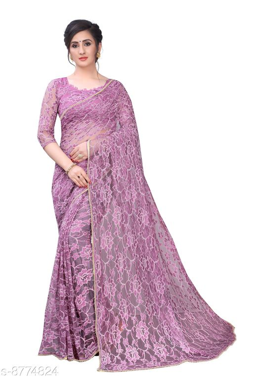 Sarees CRAZY New Lavender Color With Fancy Border Party Wear Russel net Saree  *Saree Fabric* Net  *Blouse* Running Blouse  *Blouse Fabric* Net  *Pattern* Solid  *Blouse Pattern* Same as Saree  *Multipack* Single  *Sizes*   *Free Size (Saree Length Size* 5.5 m, Blouse Length Size  *Sizes Available* Free Size *    Catalog Name: CRAZY Latest Cream Color Party Wear Russel net Saree CatalogID_1499558 C74-SC1004 Code: 566-8774824-