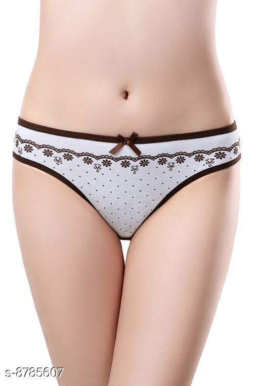 Women Brown Cotton Panty