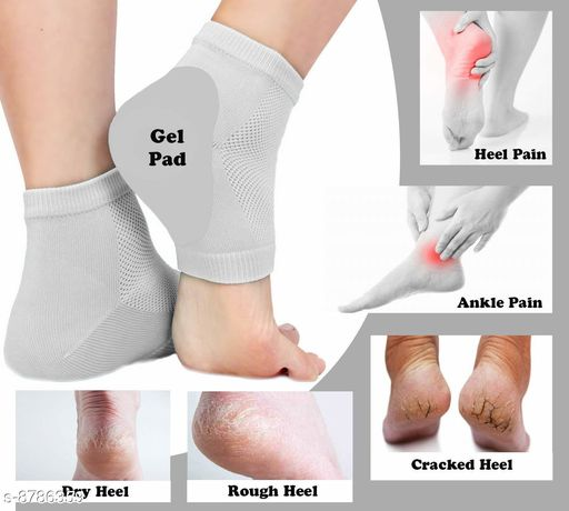 Gel Pad Heel Protector Socks with Spa Botanical for Men and Women Cotton Socks - Multi Color - As per Availability/pc.1