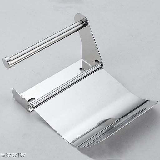 Toilet Tissue Holder Toilet Paper Napkin Holder Dispneser Stainless Steel Set of 2