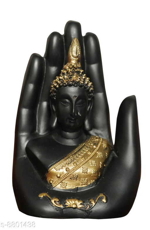 Religious Idols & Paintings  Handicraft Hand Palm Buddha Statue Baby Monk Sculpture For Home Decor|Meditating Monk Buddha Idol| Lord Buddha idols for car dashboard, gifts, home & Showpieces & Figurines|Showpiece gift sets|Buddha showpieces|Showpiece for bedroom, gifts & living room|home decorations (Black, Gold) Decorative Showpiece - 9 cm  (Polyresin, Black, Gold)  *Material* Poly Resin  *Pack* Pack of 1  *Product Breadth* 10  *Sizes Available* Free Size *    Catalog Name: Essential Idols & Figurines CatalogID_1505799 C128-SC1316 Code: 953-8801438-994