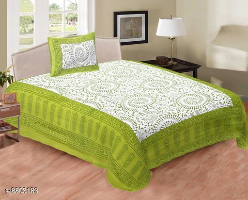 Classy Comfy Cotton Single Bedsheet 90 in X 60 in