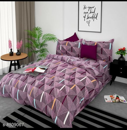 Colorful Classy Polycotton Printed Double Bedsheet