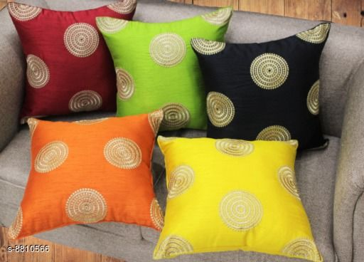 Embroided Big Polka Cushion Cover by OSO (40x40cms)