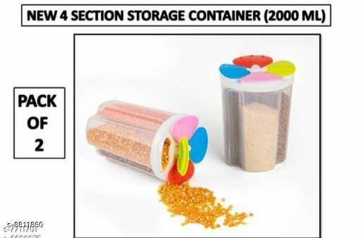 Jars & Container 4section2  *Material* Plastic  *Sizes Available* Free Size *    Catalog Name: Classy Jars & Container CatalogID_1508244 C130-SC1639 Code: 154-8811860-