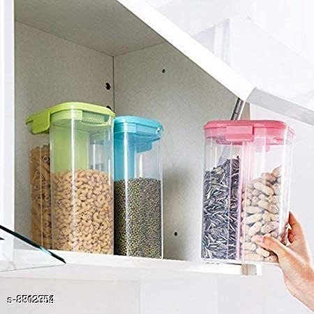 Jars & Container 2section3  *Material* Plastic  *Sizes Available* Free Size *    Catalog Name: Modern Jars & Container CatalogID_1508359 C130-SC1639 Code: 155-8812354-