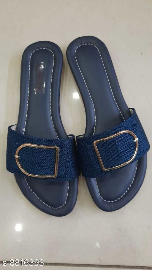 Flipflops & Slippers FLAT GIRLISH STYLISH SLIPPERS  *Material* Leather  *Sizes*  IND-9  *Sizes Available* IND-9 *    Catalog Name: Relaxed Trendy Women Flipflops & Slippers CatalogID_1509307 C75-SC1070 Code: 934-8816393-