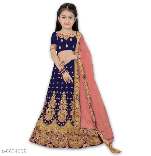 Lehenga Cholis Beatiful Kid's Lehenga Choli  *Lehenga Fabric* Satin  *Sizes*  11-12 Years  *Sizes Available* 11-12 Years *    Catalog Name: Princess Comfy Kids Girls Lehanga Cholis CatalogID_1513599 C61-SC1137 Code: 318-8834608-