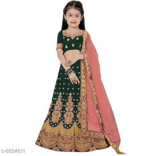 Lehenga Cholis Beatiful Kid's Lehenga Choli  *Lehenga Fabric* Satin  *Sizes*  9-10 Years  *Sizes Available* 9-10 Years *    Catalog Name: Princess Comfy Kids Girls Lehanga Cholis CatalogID_1513599 C61-SC1137 Code: 318-8834611-