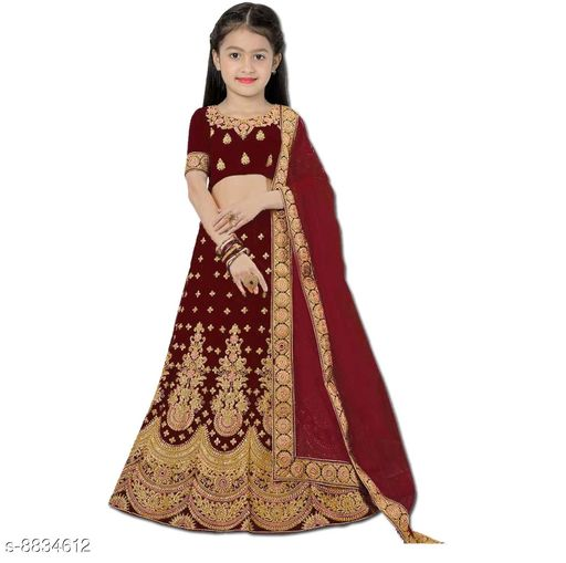 Lehenga Cholis Beatiful Kid's Lehenga Choli  *Lehenga Fabric* Satin  *Sizes*  10-11 Years  *Sizes Available* 10-11 Years *    Catalog Name: Princess Comfy Kids Girls Lehanga Cholis CatalogID_1513599 C61-SC1137 Code: 318-8834612-