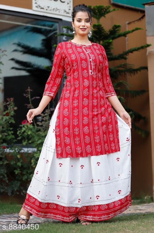 Classy Women Kurta with Skirt