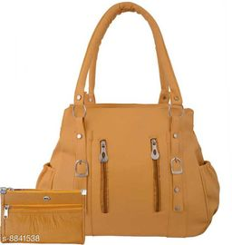 WOMEN STYLISH SHOULDER BAG WITH POUCH TAN