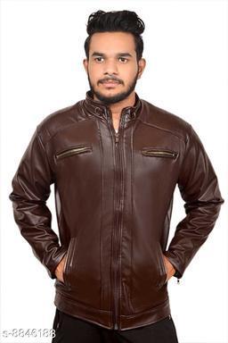 Stylish Men's PU Leather Jacket
