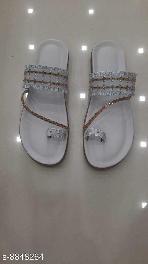 Flipflops & Slippers STYLISH GIRLISH FLATZ  *Material* Leather  *Sizes*  IND-5  *Sizes Available* IND-5 *    Catalog Name: Aadab Trendy Women Flipflops & Slippers CatalogID_1516777 C75-SC1070 Code: 925-8848264-