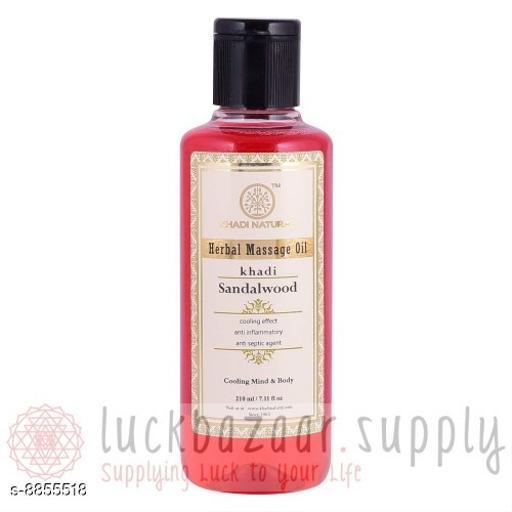 Khadi-Natural Sandalwood Massage Oil Skin Care Oil - Scars, Stretch Mark, Ageing, Uneven Skin Tone (100 ml) Pack of 2