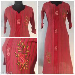 Women's Embroidered Cotton Blend Kurti
