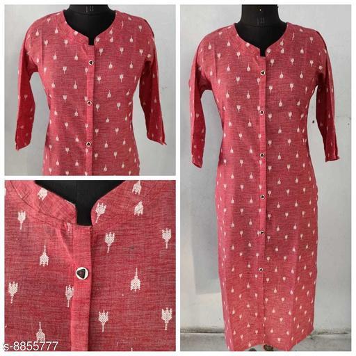 Women's Self-Design Cotton Kurti