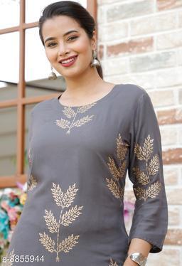 Women's Printed Rayon Kurti