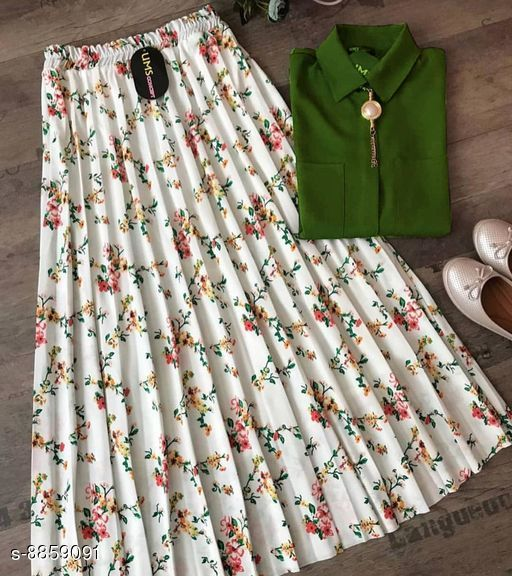 GOOD QUALITY HEAVY TOP WITH BEAUTIFUL FULLY STITCHED SKIRT