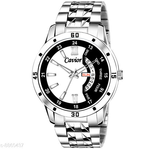 Mens Multi-Color Day and Date Function Analog Watch