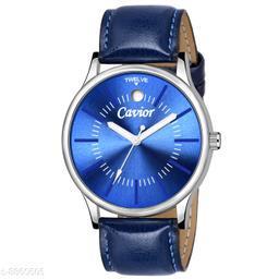 Mens Blue Slim Analog Watch