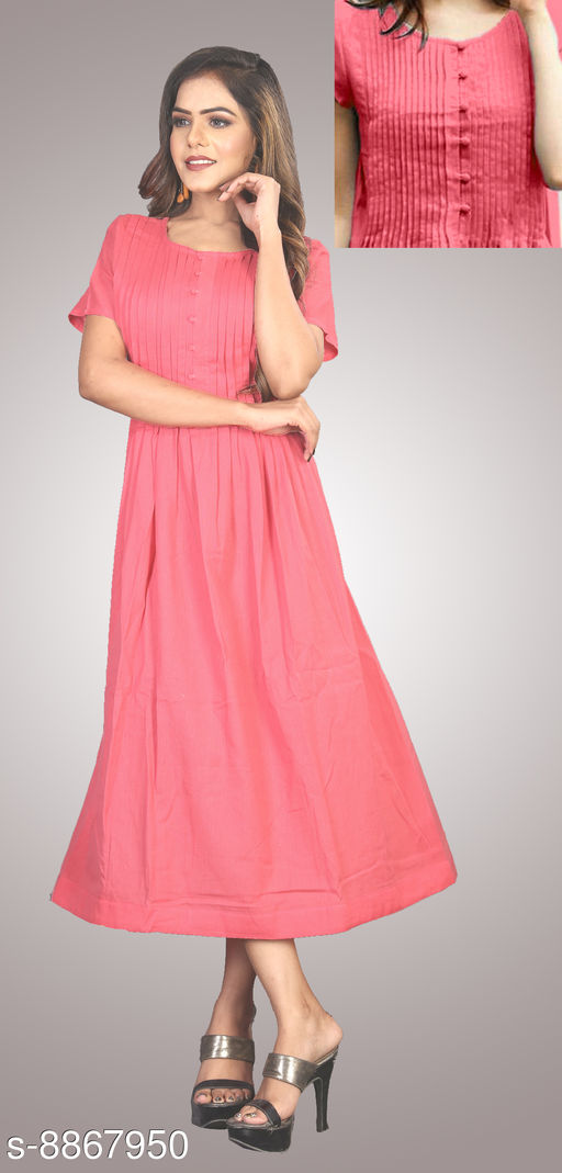 Daisy Pleated Cotton Gown