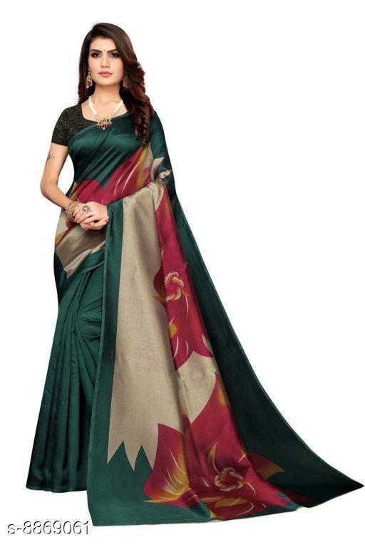Sarees Attractive Art Silk Saree  *Saree Fabric* Art Silk  *Blouse* Separate Blouse Piece  *Blouse Fabric* Art Silk  *Pattern* Printed  *Blouse Pattern* Solid  *Multipack* Single  *Sizes*   *Free Size (Saree Length Size* 5.5 m, Blouse Length Size  *Sizes Available* Free Size *    Catalog Name: Attractive Art Silk Saree CatalogID_1521562 C74-SC1004 Code: 672-8869061-