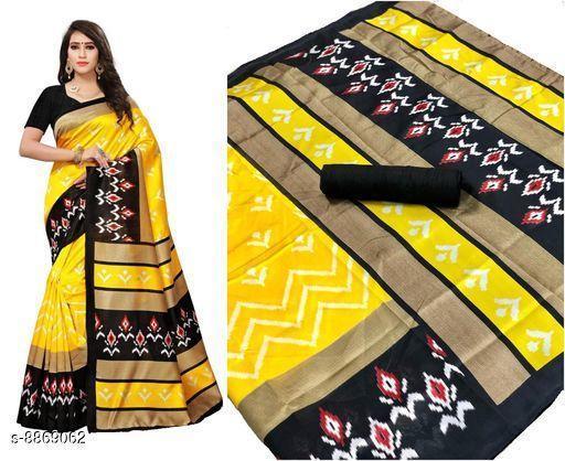 Sarees Attractive Art Silk Saree  *Saree Fabric* Art Silk  *Blouse* Separate Blouse Piece  *Blouse Fabric* Art Silk  *Pattern* Printed  *Blouse Pattern* Solid  *Multipack* Single  *Sizes*   *Free Size (Saree Length Size* 5.5 m, Blouse Length Size  *Sizes Available* Free Size *    Catalog Name: Attractive Art Silk Saree CatalogID_1521562 C74-SC1004 Code: 672-8869062-