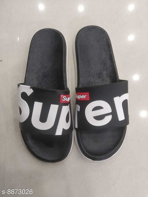 Flip Flops FASHIONABLE SUPREME SLIPPERS  *Material* Synthetic  *Sizes*  IND-9  *Sizes Available* IND-9 *    Catalog Name: Relaxed Fabulous Men Flip Flops CatalogID_1522501 C67-SC1239 Code: 663-8873026-