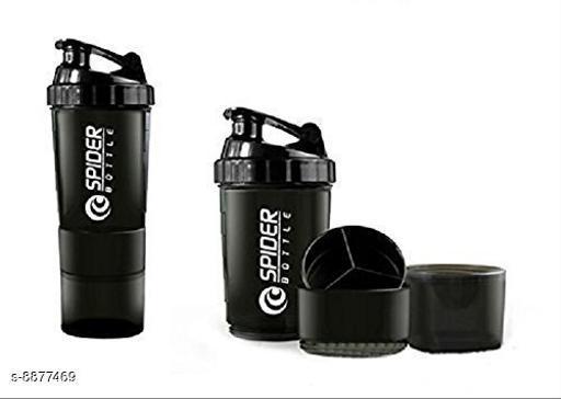 Bmax 3 In 1 Shaker Bottle 500 ML for Gym Black