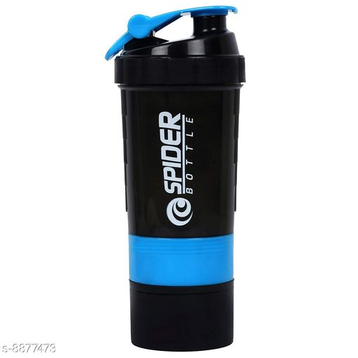 Bmax 3 In 1 Shaker Bottle 500 ML for Gym Blue
