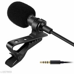 Mobone ® Collar Mic 3.5mm Clip-on Mini Lapel Lavalier Microphone for Android/iOS Device (Black)