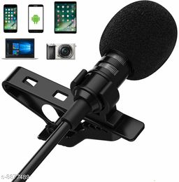 Mobone ® 3.5mm Clip Collar Mic for YouTube, Collar Mike for Voice Recording, Lapel Mic Mobile, Pc, Laptop, Android Smartphoneses Travel Videos Mike for Mobile