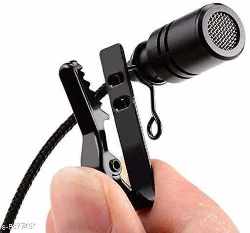 Mobone ® Microphone Collar Mic, Professional Lapel Clip-on Omnidirectional Condenser Mic for Smartphones,PC,Recording Youtube,Interview,Video Conference,Podcast (Black)