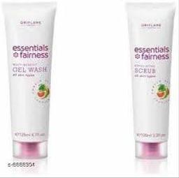 Oriflame Sweden Essential Fairness Multi Benefit gel Wash & Exfoliating Scrub(2 Items in the set)