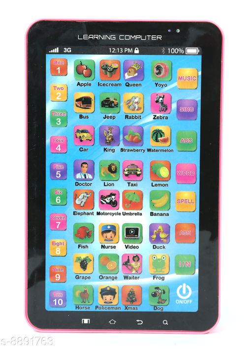 Others Toys 4 U Educational Learning Tablet Computer for Kids(Multicolor) Toys 4 U Educational Learning Tablet Computer for Kids(Multicolor)  *Sizes Available* Free Size *    Catalog Name: Check out this trending catalog CatalogID_1526646 C80-SC1256 Code: 983-8891763-