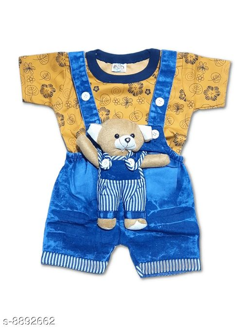 Clothing Sets BOY'S DUNGAREES  *Fabric* Denim  *Pattern* Printed  *Type* Denim  *Multipack* 1  *Sizes*  0-6 Months  *Sizes Available* 0-6 Months *    Catalog Name: Flawsome Stylish Boys Dungarees & Jumpsuits CatalogID_1526839 C59-SC1182 Code: 472-8892662-