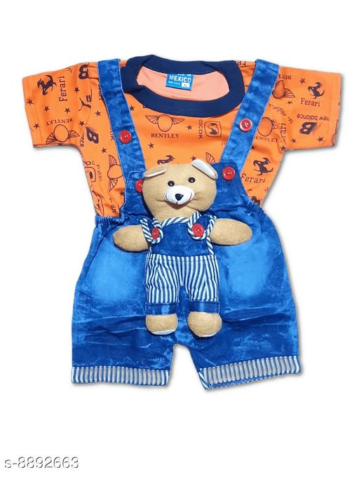 Clothing Sets BOY'S DUNGAREES  *Fabric* Denim  *Pattern* Printed  *Type* Denim  *Multipack* 1  *Sizes*  0-6 Months  *Sizes Available* 0-6 Months *    Catalog Name: Flawsome Stylish Boys Dungarees & Jumpsuits CatalogID_1526839 C59-SC1182 Code: 403-8892663-