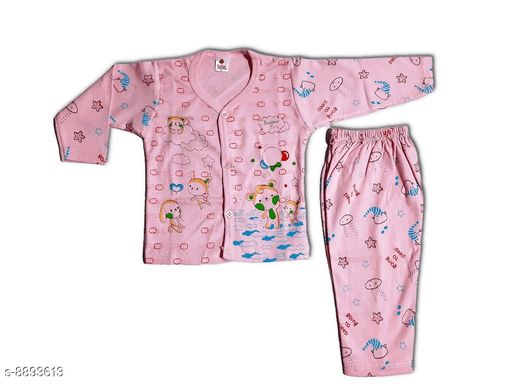 Nightsuits BABY GIRL NIGHT SUIT  *Top Fabric* Cotton  *Bottom Fabric* Cotton  *Sizes*  0-1 Years  *Sizes Available* 0-1 Years *    Catalog Name: Tinkle Classy Kids Girls Nightsuits CatalogID_1527069 C62-SC1158 Code: 722-8893613-