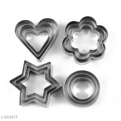 Stainless Steel Cookie Cutter ( Pack Of 12 )