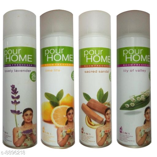 Home Fragrance Each Combo Pack Contains- 1 Pour Home Lime Life Room Freshener Pour Home Sacred Sandal Room Freshener Pour Home Lovely Lavender Room Freshener Pour Home Lily Of Valley Room Freshener   *Product Name* Each Combo Pack Contains- 1 Pour Home Lime Life Room Freshener Pour Home Sacred Sandal Room Freshener Pour Home Lovely Lavender Room Freshener Pour Home Lily Of Valley Room Freshener  *Brand Name* Pour Home  *Type* Room Freshener  *Capacity* 270 ml  *Multipack* 4  *Sizes Available* Free Size *    Catalog Name: Pour Home Room Freshener CatalogID_1527692 C127-SC1439 Code: 247-8896218-